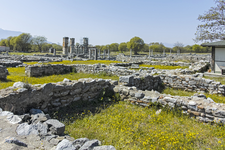 Ancient Ruins at archaeological site of Philippi, Eastern Macedonia and Thrace, Greece Banque d'images - 123113831