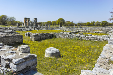 Ancient Ruins at archaeological site of Philippi, Eastern Macedonia and Thrace, Greece Banque d'images - 123113832