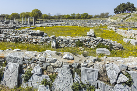 Ancient Ruins at archaeological site of Philippi, Eastern Macedonia and Thrace, Greece Banque d'images - 123113833