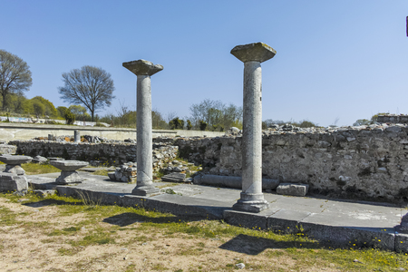 Ancient Ruins at archaeological site of Philippi, Eastern Macedonia and Thrace, Greece Banque d'images - 123113834