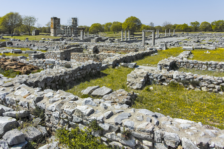Ancient Ruins at archaeological site of Philippi, Eastern Macedonia and Thrace, Greece Banque d'images - 123113835