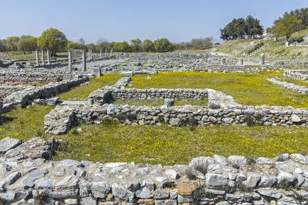 Ancient Ruins at archaeological site of Philippi, Eastern Macedonia and Thrace, Greece Banque d'images - 123113836