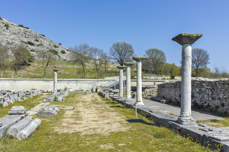 Ancient Ruins at archaeological site of Philippi, Eastern Macedonia and Thrace, Greece Banque d'images - 123113839