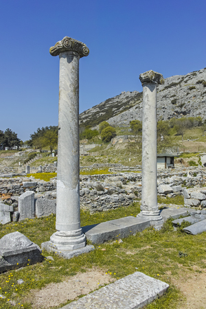 Ancient Ruins at archaeological site of Philippi, Eastern Macedonia and Thrace, Greece Banque d'images - 123113841