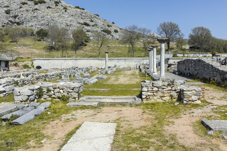 Ancient Ruins at archaeological site of Philippi, Eastern Macedonia and Thrace, Greece Banque d'images - 123114204