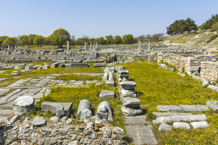 Ancient Ruins at archaeological site of Philippi, Eastern Macedonia and Thrace, Greece Banque d'images - 123114205