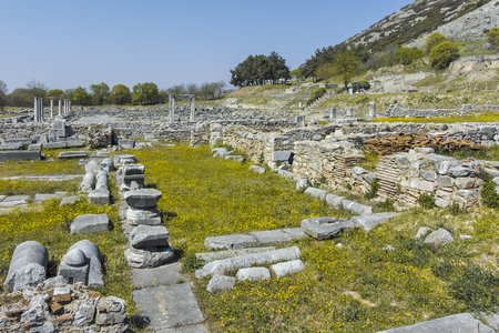 Ancient Ruins at archaeological site of Philippi, Eastern Macedonia and Thrace, Greece Banque d'images - 123114206