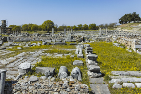 Ancient Ruins at archaeological site of Philippi, Eastern Macedonia and Thrace, Greece Banque d'images - 123114207