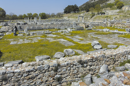 Ancient Ruins at archaeological site of Philippi, Eastern Macedonia and Thrace, Greece Banque d'images - 123114208