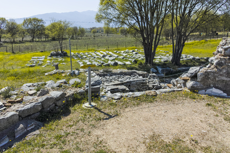 Ancient Ruins at archaeological site of Philippi, Eastern Macedonia and Thrace, Greece Banque d'images - 123114212