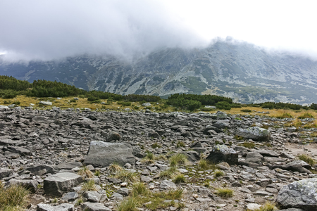 Landscape from Route to climbing Musala peak, Rila mountain, Bulgaria Stock Photo