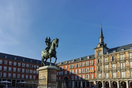 MADRID, SPAIN - JANUARY 23, 2018: Old Building at Plaza Mayor in city of Madrid, Spain Éditoriale