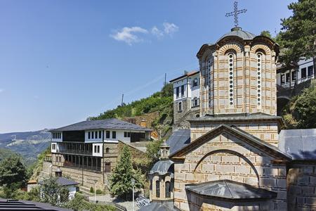 Medieval Orthodox Monastery St. Joachim of Osogovo, Kriva Palanka region, Republic of North Macedonia Foto de archivo - 124978378
