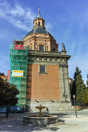 MADRID, SPAIN - JANUARY 23, 2018: Amazing view of St. Andrew Church in City of Madrid, Spain