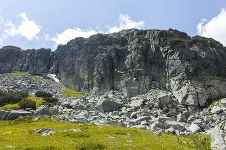 Landscape from trail from Malyovitsa hut to Scary (strashnoto) Lake, Rila Mountain, Bulgaria Stok Fotoğraf