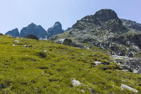 Amazing Landscape of Kupens peak, Rila Mountain, Bulgaria Stok Fotoğraf