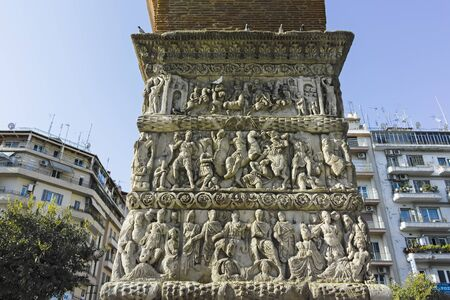 Ancient Roman Arch of Galerius in the center of city of Thessaloniki, Central Macedonia, Greece
