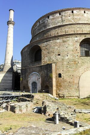 Rotunda Roman Temple in the center of city of Thessaloniki, Central Macedonia, Greece