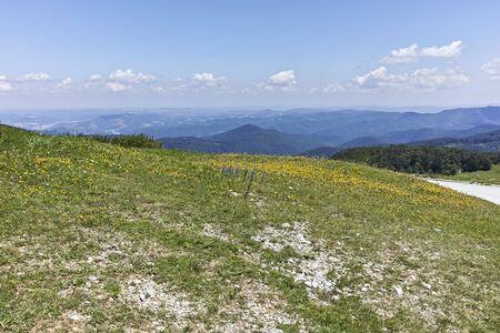 Amazing Landscape to Stara Planina (Balkan) Mountains from Shipka peak, Stara Zagora Region, Bulgaria