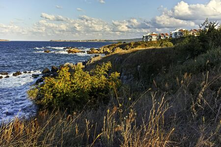 Sunset Landscape of the coastline of Resort of Chernomorets, Burgas region, Bulgaria
