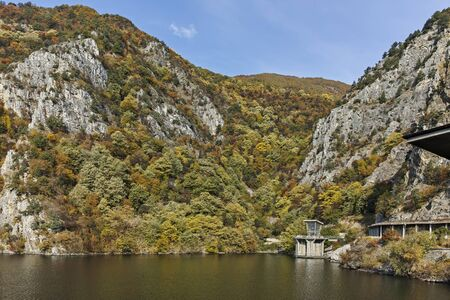 Amazing Autumn ladscape of Krichim Reservoir at Rhodopes Mountain, Plovdiv Region, Bulgaria