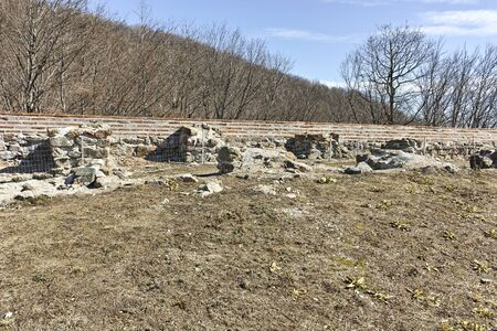 Ruins of Ancient Roman fortress The Trajan's Gate, Sofia Region, Bulgaria