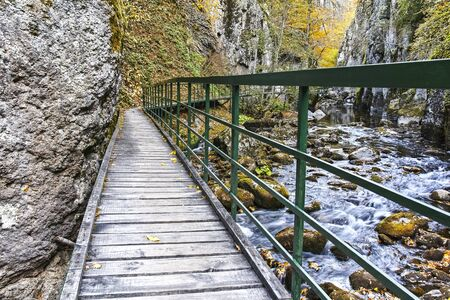 Struilitsa eco path at Devin river gorge, Rhodope Mountains, Bulgaria