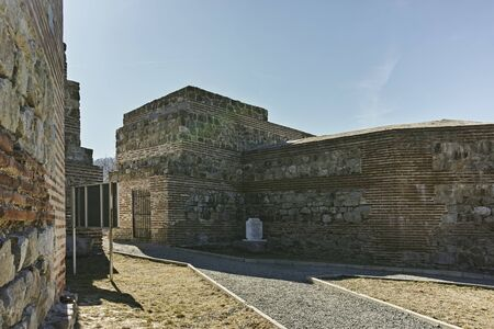 Ruins of Ancient Roman fortress The Trajans Gate, Sofia Region, Bulgaria