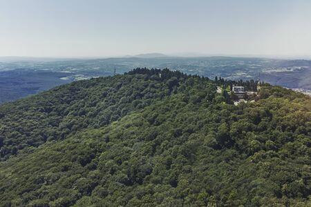 Amazing panorama from Avala Tower near city of Belgrade, Serbia