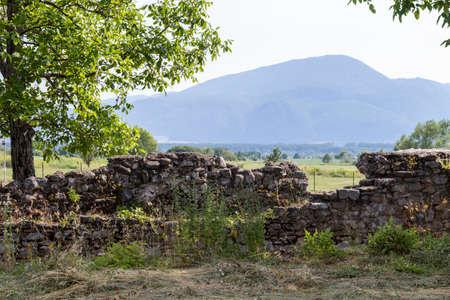Ruins of ancient Roman city Nicopolis ad Nestum near town of Garmen, Blagoevgrad Region, Bulgaria
