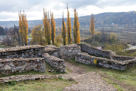 Ruins of Ancient fortification Castra ad Montanensium in town of Montana, Bulgaria