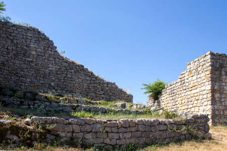 Ruins of medieval fortificated city of Cherven from period of Second Bulgarian Empire, Ruse region, Bulgaria