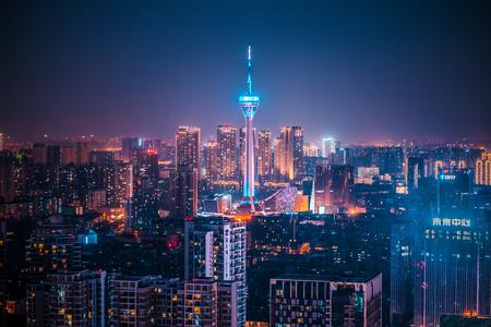 Heart of Chengdu night view