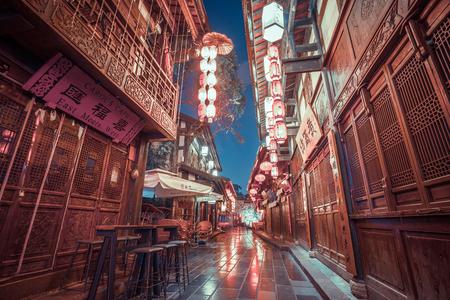 Night scenery of Chengdu Jinli