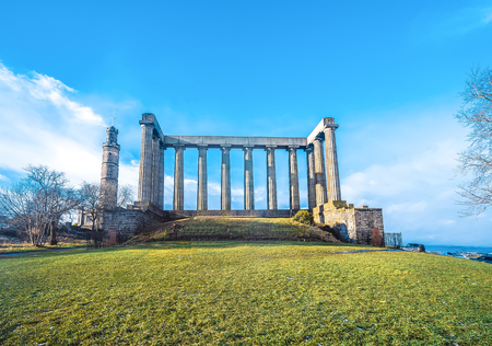 The scenery of Carleton Hill in Edinburgh Editorial