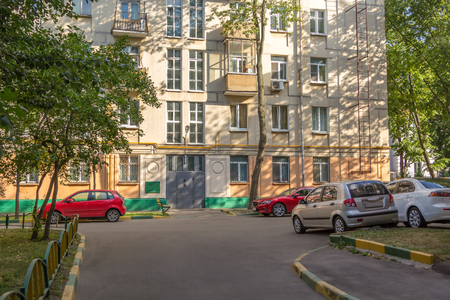 garth: parking in a courtyard of a city apartment house Stock Photo