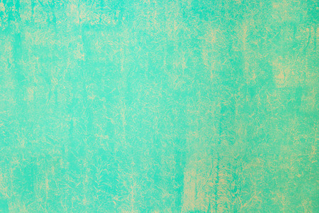 aquamarine: aquamarine wall painted with a textured paint roller Stock Photo