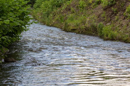 arroyo: rapid stream of the river in a ravine Stock Photo