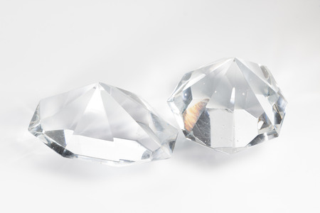crystal background: two glass crystal on a white background