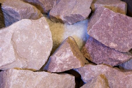 stones and salt in a Russian bath stove