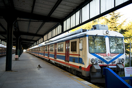 haydarpasa: ISTANBUL Electric trains at Haydarpasa Station  in Istanbul. All train services of the station will halt in 2012 for two years for adapts it for a high-speed train. Editorial