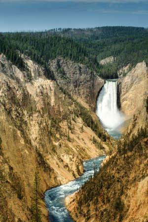 lower yellowstone falls: lower falls of the Yellowstone River (USA)