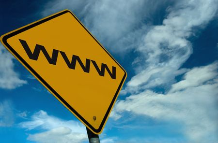 A WWW Sign Stock Photo