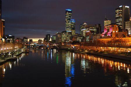 An Evening shot of Melbourne - Australia