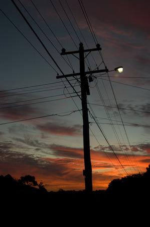 telegraph hill: A Silhoetted Australian Sunset