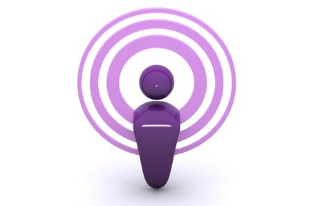 podcasting: A 3d Rendered Image showing Wireless and podcasting Stock Photo