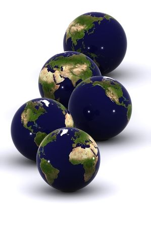 A 3d rendered Isolated earth (24hrs) Stock Photo - 3442708