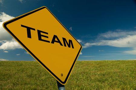 Motivational Illustration promoting good Teamwork