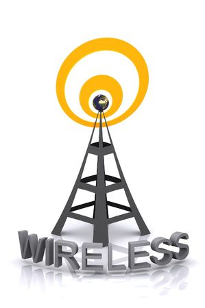 communications tower: A 3d rendered Wireless tower Illustration.