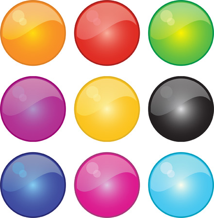 A Colourful Selection of Shiney Icons Vector